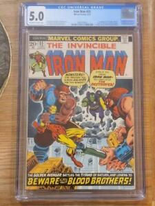 Iron Man #55 CGC 5.0 (OW/W) 1st Thanos 1st Drax 1st Cameo Starfox (Eros) Marvel