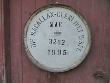 """Stunning Rare 1995 Macallan Whisky Barrel Lid w/ end hoop 25"""" wide Ready to Hang"""