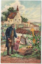 THE LORD'S PRAYER - Deliver Us From Evil - c1900s era postcard