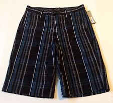New!! APT 9 Men's Black & Gray Plaid Shorts Size 30