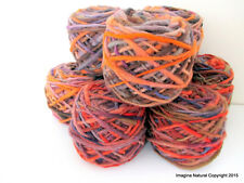 Limited Edition Handspun Hand dyed yarn Bulky Chilean Wool Knitting Multicolour