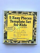 Come Quilt W/ Me 5 Easy Pieces Quilting Template Intruct. & 20 Patterns - Opened