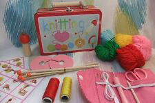 Kaper Kidz Children's Learn to Knit Starter's Kit in Tin Case! Knitting Crafts!