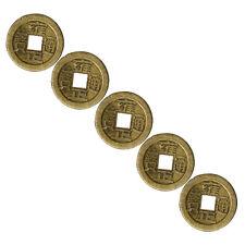 5Pc Lucky Chinese Fortune-Münze Oriental Kaiser Geld-Loch-Dekor hängend Neu