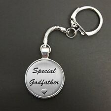 Special Godfather Pendant On A Snake Keyring Birthday Christening Gift N758