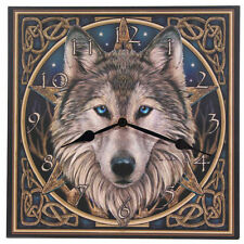 Picture Clock Celtic Wolf Head Lisa Parker The Wild One Pagan Wicca