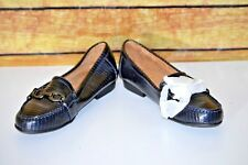 Life Stride Summerlin Navy Mercy Faux Patent Leather Loafer Flat Shoes Size 6M