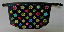 Black Plastic Ladies Zippered Wallet with Flowers NWT