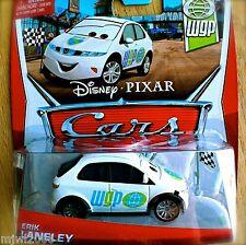 Disney PIXAR Cars ERIK LANELEY on 2013 WGP THEME CARD diecast 9/17 Honda flag