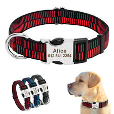 Personalised Dog Collar Free Engraved Custom Adjustable Pet Puppy Dog Collar