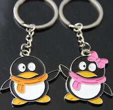 FD1079 Happy Penguin Lover Keychain Keyring Keyfob Key Ring ~1 Pair 2pcs~ G