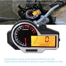 Motorcycle LCD N 1-6 Digital Speedometer Odometer Tachometer Instruments Gauge
