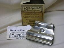 Vintage Berghman Adjustable Ice Skate Sharpener with Original Box Hockey Figure