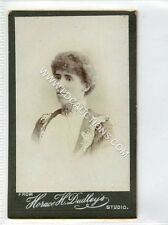 (Ga2265-461) Real Photo CDV by Horace H.Dudley of West Bromwich c1890 VG-EX Lady