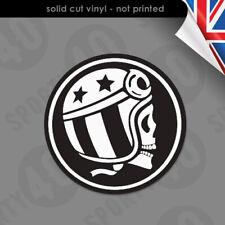 Skull Cafe Racer - Vinyl Decal / Sticker  Vespa Motorbike Scooter 2502-0219