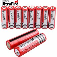 10x 18650 3.7V Battery 3000mah Li-ion Rechargeable For Flashlight Torch