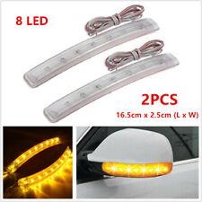 2x Yellow LED Car Auto Side Mirror Amber Indicator Soft Turn Signal Light Strips