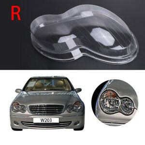 Right Headlight Lens Cover Replacement For Mercedes Benz C-Class W203 2001-2007