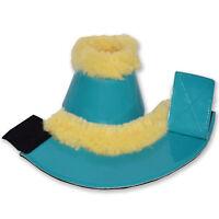 Horse Overreach Bell Boots Genuine Sheepskin Fur Double Velcro Fastening