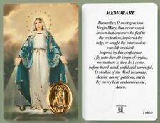 VIRGIN MARY OUR LADY LAMINATED PRAYER CARD + FOIL MEDAL - STATUES CANDLES LISTED