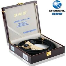 Choseal HiFi auido line AV cable 2RCA to 2RCA OCC 6N Single Crystal Copper,black