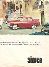 PUBLICITE 1969 SIMCA Elégance, Robustesse, Sécurité