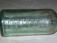 "VINTAGE EARLIER 1900S LEA & PERRINS WORCESTERSHIRE SAUCE GREEN 8 1/2"" BOTTLE"