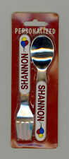 Personalized Fork & Spoon Set ~ SHANNON ~ Stocking Stuffer ~ Balloons ~ Gift