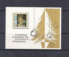 Christmas/Madonna - Brazil - 1969 Imperf sheet- (Sc 1147)-Mnh-A341