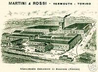 MARTINI  &  ROSSI-fabbrica- Pessione-TORINO-vermouth.