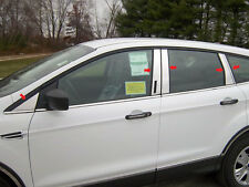 10PC STAINLESS PILLAR POST TRIM W/KEYLESS CUTOUT FITS 2013-2019 FORD ESCAPE