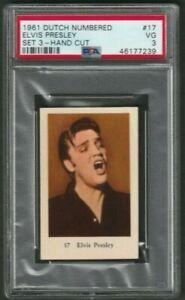 1961 Elvis Presley Card PSA 3 Dutch Numbered Set 3
