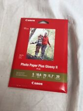 """CanonInk Photo Paper Plus Glossy II 5"""" x 7"""" 20 Sheets (1432C002) New"""
