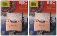 EBC Double-H Sintered Metal Brake Pads FA244HH (2 Packs - Enough for 2 Rotors)