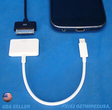 us seller APPLE 30 to 8-PIN CHARGING ADAPTER iPHONE 7 6 5 5s 5c iPOD NANO TOUCH