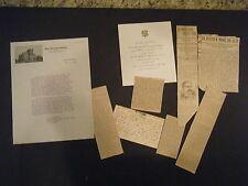 Items Re; Dr W W Moore Union Theological Seminary, Richmond VA inc. Inauguration