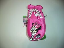 Girls Kids Minnie Mouse Pink Slippers With Bow Size Large 9-10