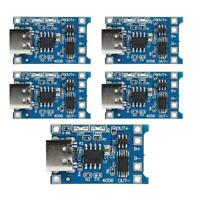 YouN 5pcs TP4056 1A Lithium Battery Charger Module Board w/USB Type-C Prote