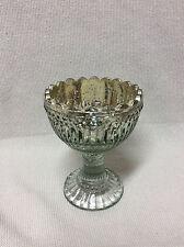 * Windlicht Teelichthalter Glas Silber Bauernsilber Edel Pokal aus Fuss