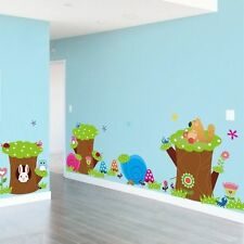Large Hollow Animals Removable Vinyl Decal Kid Room Home Decor PVC Wall Stickers