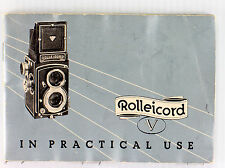 Original Rolleiflex Rolleicord V Manual - in English, October 1954, 54 pages