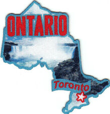 """""""TORONTO ONTARIO """" Iron On Printed Patch Capital City Canada Canadian"""