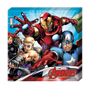 Avengers Mighty Serviette, mehrfarbig, 33 x 33 cm