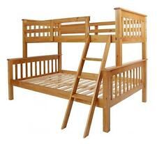 NEPTUNE ANTIQUE PINE TRIPLE SLEEPER BUNK BED *FREE NEXT DAY DELIVERY