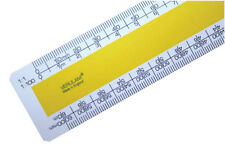 """30cm 12"""" No.3 Architects scale ruler 1:1 1:100 1:20 1:200 1:5 1:50 1:1250 1:2500"""