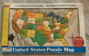 Vintage 1994 Tyco Preschool 45 Piece 3D Plastic Puzzle United States 21 Inch