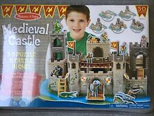 New in Package Melissa & Doug Medieval Castle 3D Puzzle w/ Play Figurines Dragon