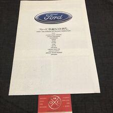 Rare 1991 Ford Contour Concept Brochure Japanese Catalog Taurus Probe 90 92 93