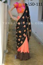 New Paper Silk Saree Party Wear Look Indian Wear Bollywood Ethnic Fancy 111
