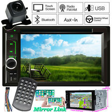 2 Din Car Stereo DVD CD Player Radio AUX SD Subwoofer In Dash Fast System & Cam